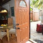 Front door into cottage