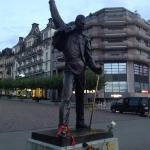 fredy mercury's statue in Montreux