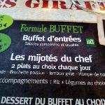 "Restaurant ""Le camp des Girafes"", au menu ..."