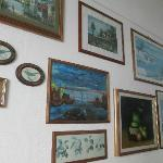 artwork in living area