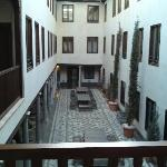 Looking down from our room to communal courtyard