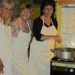 Donna, Wendy and Stephanie making Risotto
