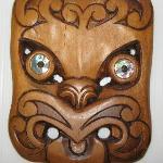 Hand carved Maori mask