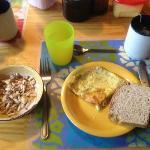 A hiker's breakfast indeed
