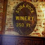 Old sign hanging inside the winery.