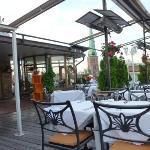 Panoramica ristorante all'aperto