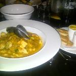 Fish stew, Galic rouille, croutons... beautiful