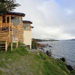Parte do hotel a beira do lago Nahuel Huapi