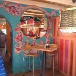whimsical interior of La Choza delights the eye while the food entrances the pallette