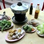 Organic steamboat with seafood