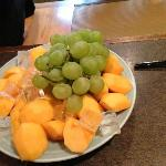 Grapes and Persimmon Platter