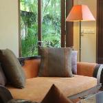 Living area of Honeymoon Suite villa