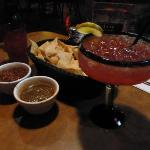Margarita, chips and salsa