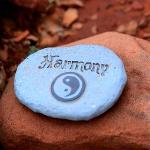 Harmony stone at stop in labyrith