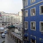 view from 3rd floor street-facing room at Gat Rossio Lisbon