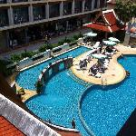 pool from my balcony