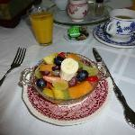 The lovely delicious fruit salad every morning