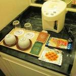 We encountered different ways to boil water in Japan including a hotplate set into the counterto