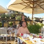 Breakfast on Albergo Cesare's Rooftop Terrace