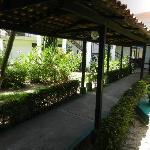 around the Hotel courtyard