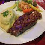 plain sirloin with mash