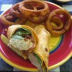 chicken salad wrap, yummy!