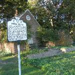 Historical marker for Pohick Church