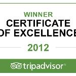 2012 Winner Certificate of Excellence