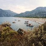 Der 3 1/2 km lange Strand von Cirali