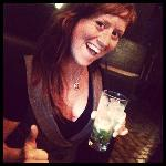 Here I am trying out a delicious Pineapple Ginger Mojito