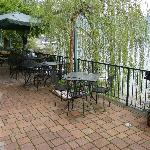 Patio - right on the lake!