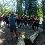 Katie's safety talk for a Sauk whitewater rafting trip