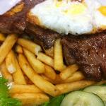 Steak Topped with Egg