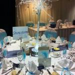 The table in Mayfair suite for our reception