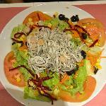 enormous eel salad starter