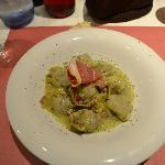 artichoke (8!) and ham starter