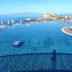 The infinity pool in other part of hotel