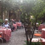 courtyard where they served breakfast