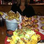 The servings are very generous. Loved the shrimp & bucket of fries. The crab nachos needed mor