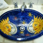 The bathroom sink; amazing artistry