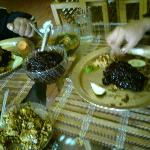 Eating the exotic Black Rice at Maihang