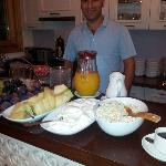 Our most wonderful host and delicious breakfast