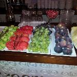 Fresh fruit and the melons......yum
