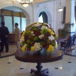 Flowers in lobby.
