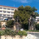 Hotel from road in front near beach