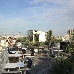 Hotel roof top terrace