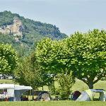 Camping Maisonneuve Dordogne vue Chateau de Castelnaud