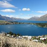view from above Queenstown