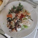 Seafood appetizer plate