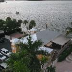 View of Flipper Restaurant from the balcony